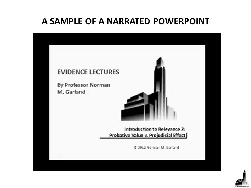 A SAMPLE OF A NARRATED POWERPOINT