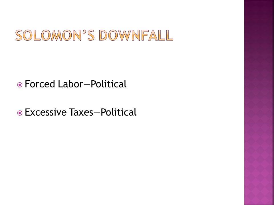  Excessive Taxes—Political