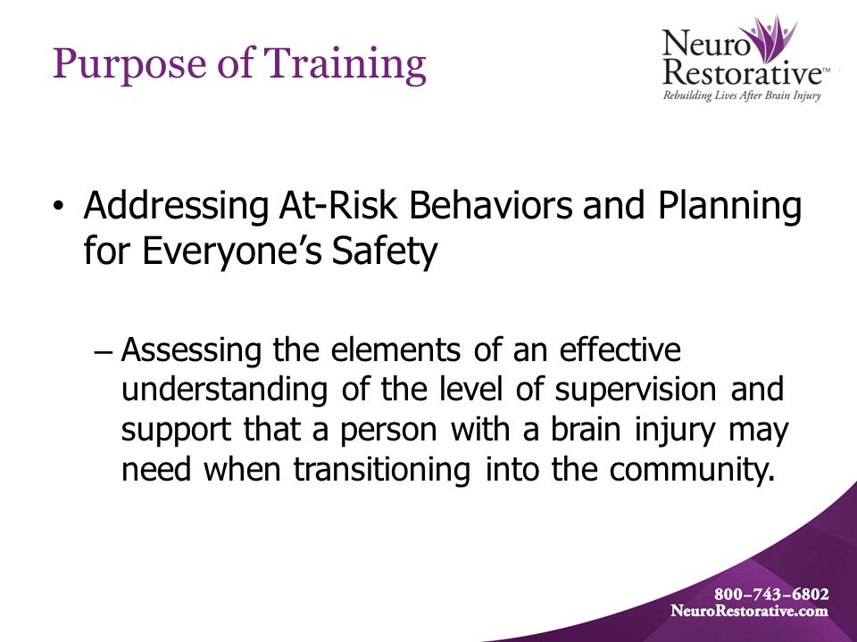 Agenda At-Risk Behaviors – What do they look like.