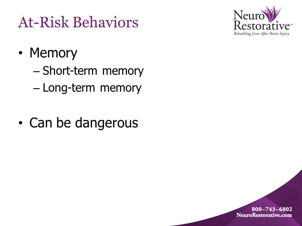 At-Risk Behaviors Medication Management – Take medication appropriately.