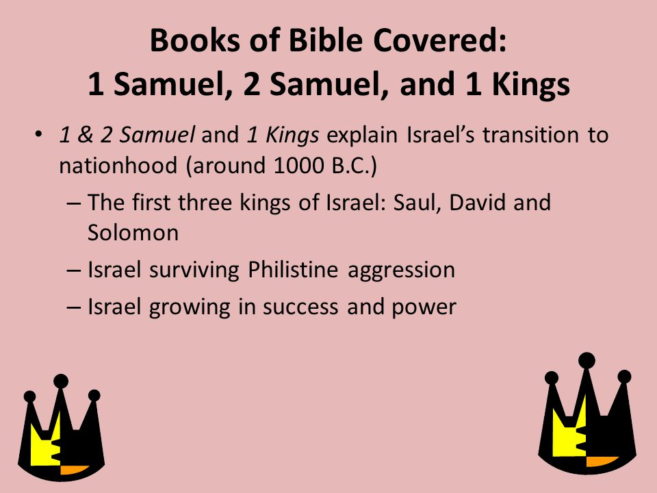 Samuel the Prophet However, Samuel obeys God's command to give the people a king.