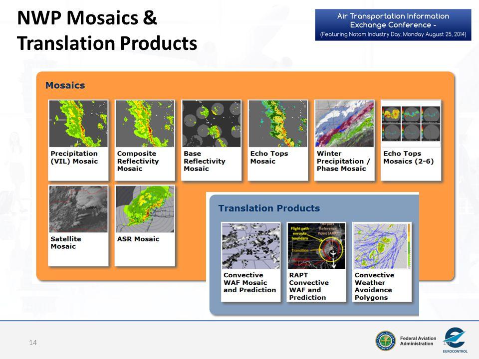 NWP Mosaics & Translation Products 14