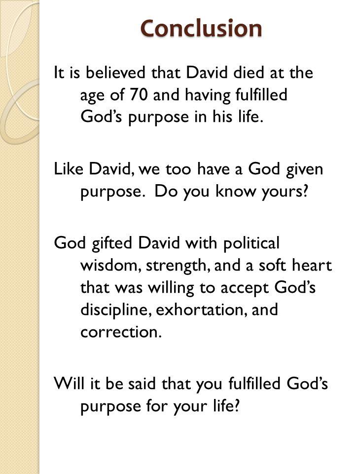 King David A MAN AFTER GOD'S OWN HEART 1040 BC – 970 BC