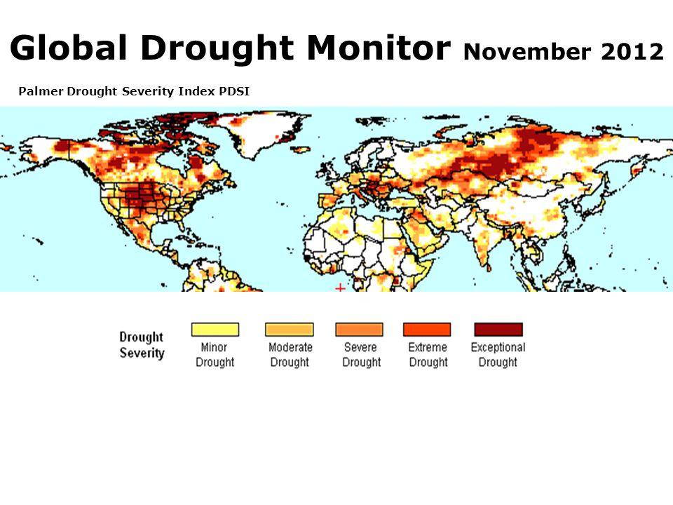 Global Drought Monitor November 2012