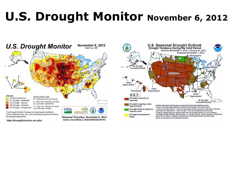 U.S. Drought Monitor November 6, 2012