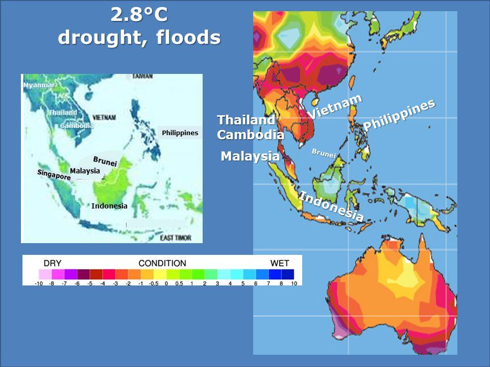 ThailandCambodia Vietnam Philippines Brunei Malaysia Indonesia drought, floods drought, floods