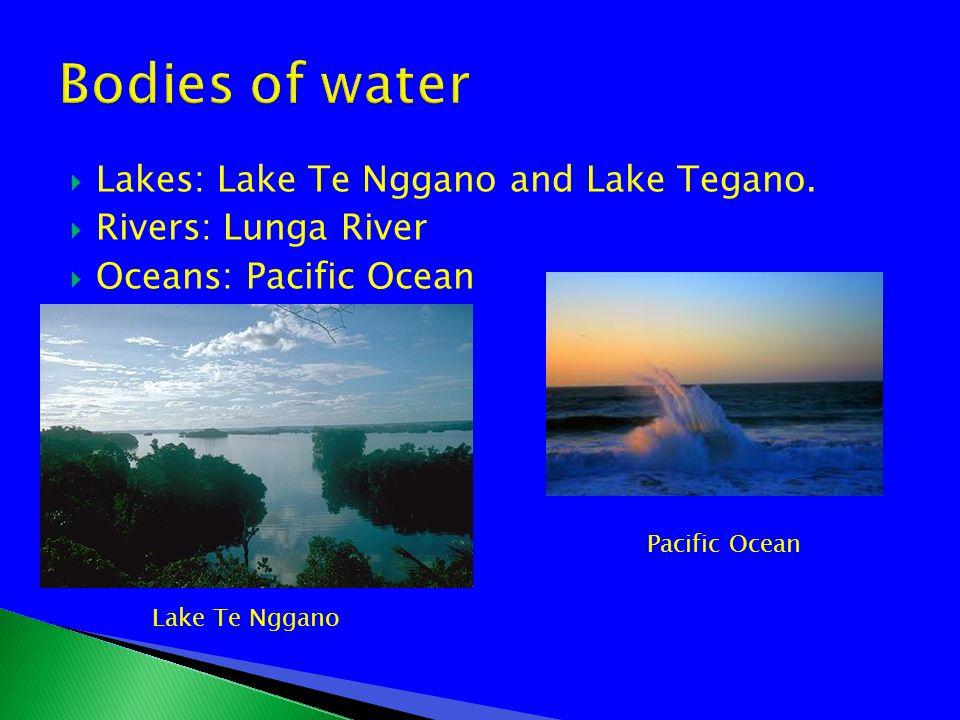  Lakes: Lake Te Nggano and Lake Tegano.