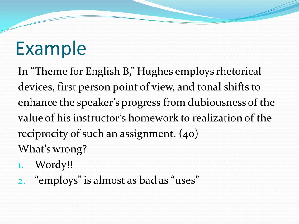 Example Of Literature Essay