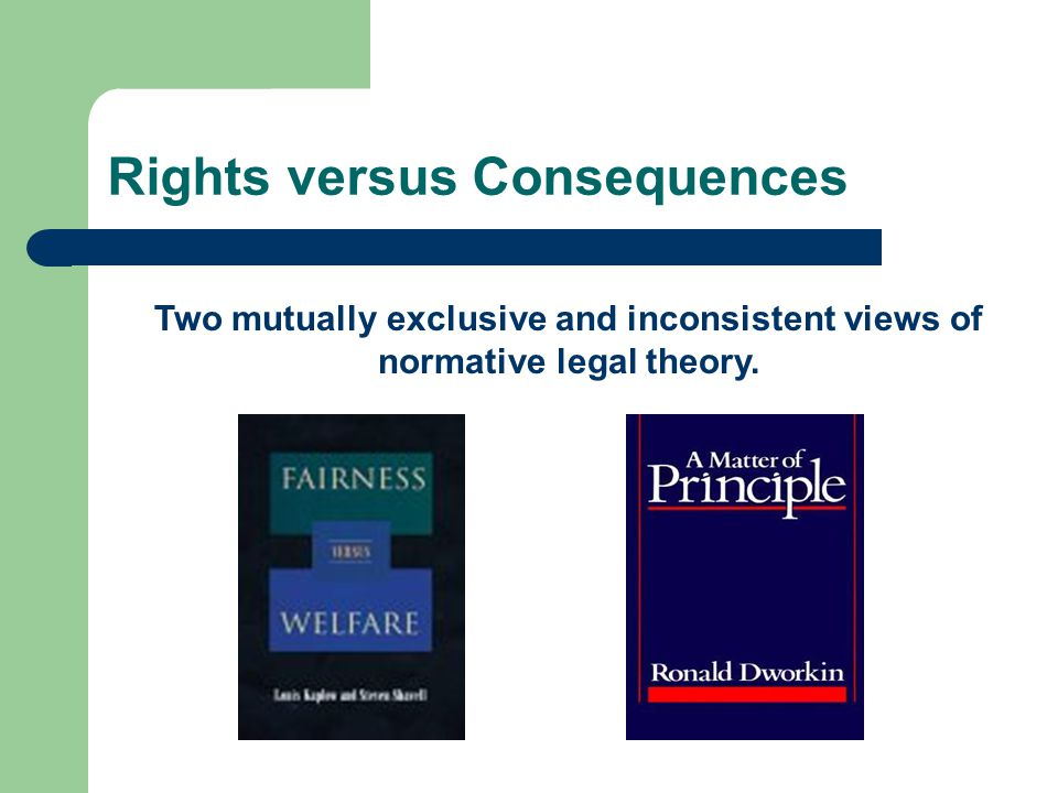Comparison with Rival Theories of Equality Aretaic equality versus utilitarian equality – Each counts for one but only one & declining marginal utility of resources (wealth & income).