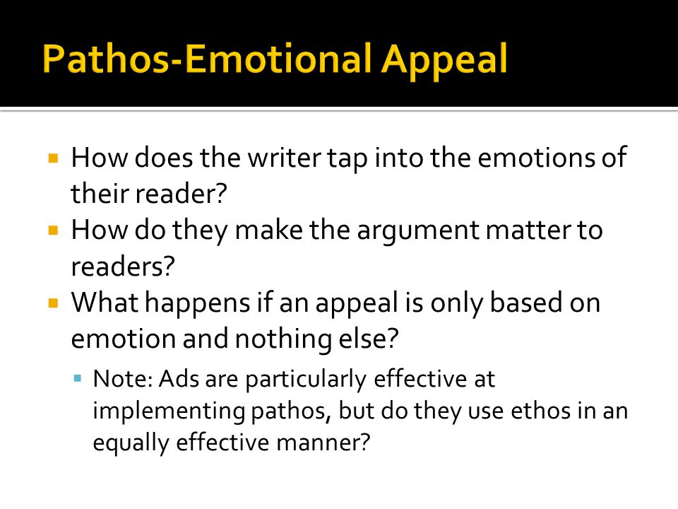  How does the writer tap into the emotions of their reader.