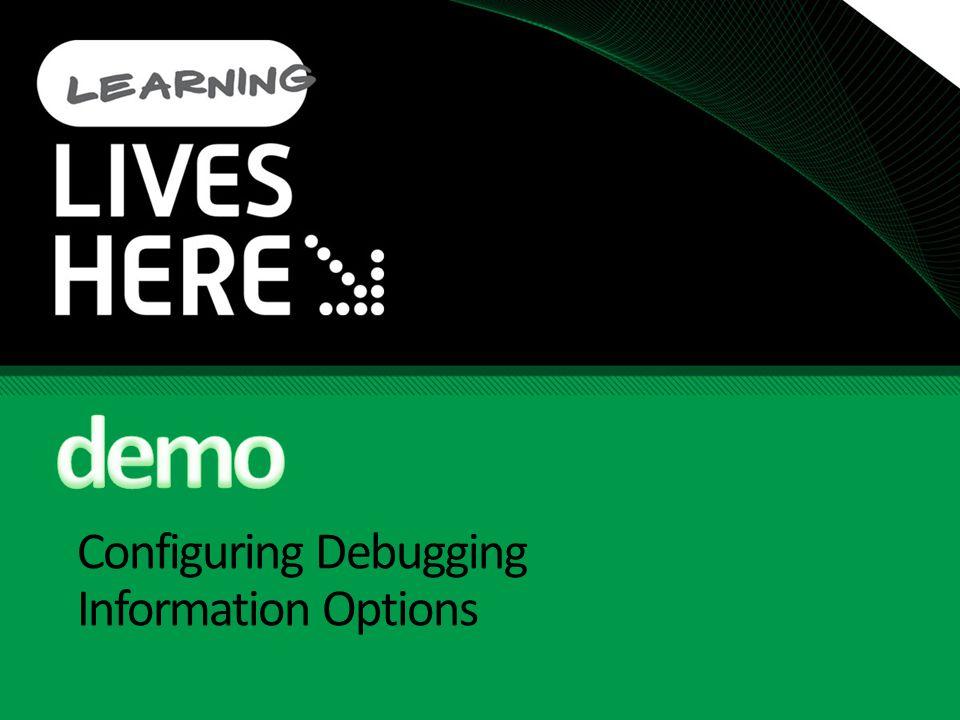 Configuring Debugging Information Options