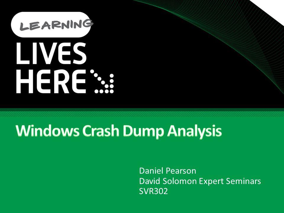 Daniel Pearson David Solomon Expert Seminars SVR302