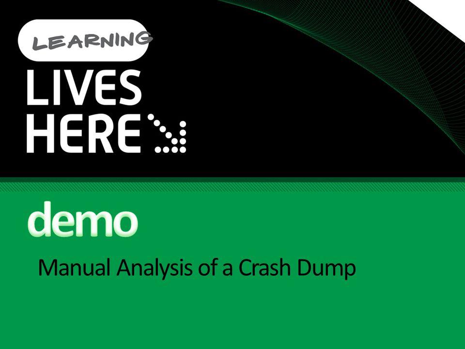 Manual Analysis of a Crash Dump