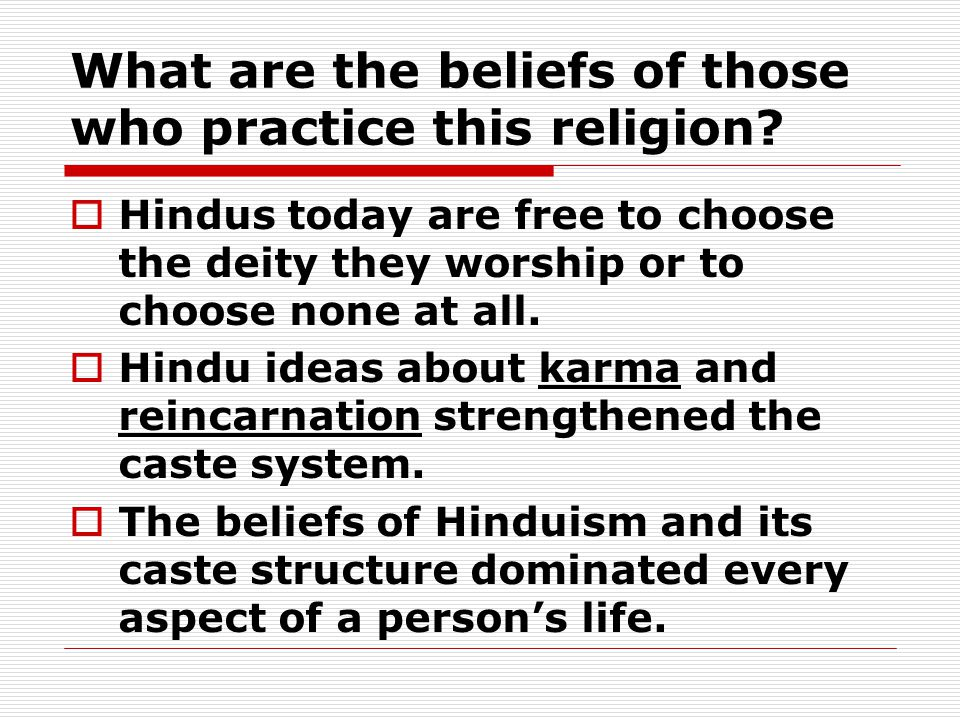 What are the beliefs of those who practice this religion.