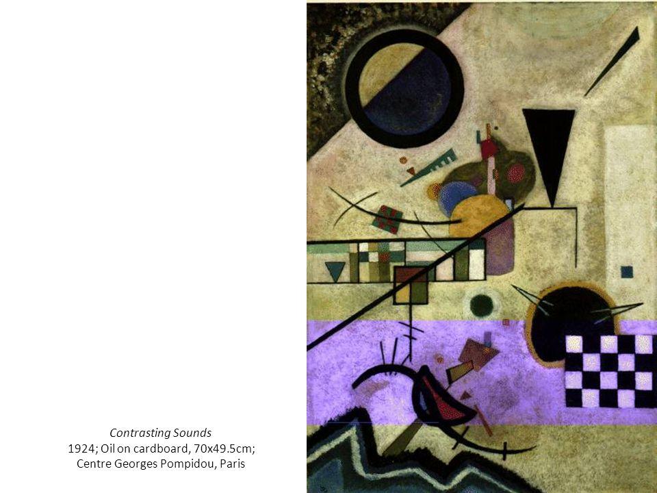 Contrasting Sounds 1924; Oil on cardboard, 70x49.5cm; Centre Georges Pompidou, Paris