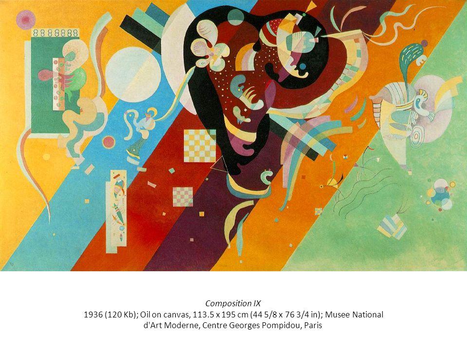 Composition IX 1936 (120 Kb); Oil on canvas, 113.5 x 195 cm (44 5/8 x 76 3/4 in); Musee National d Art Moderne, Centre Georges Pompidou, Paris