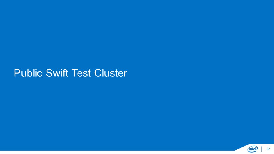 Public Swift Test Cluster 32