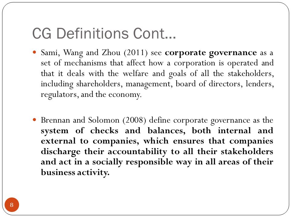 The Board ( Council, Senate) 19 The roles of the board are as follows: to set direction and approve strategy.