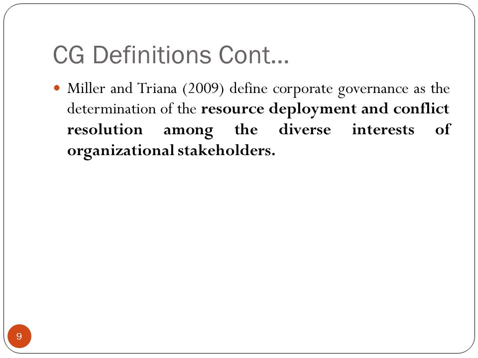 CG Definitions Cont...