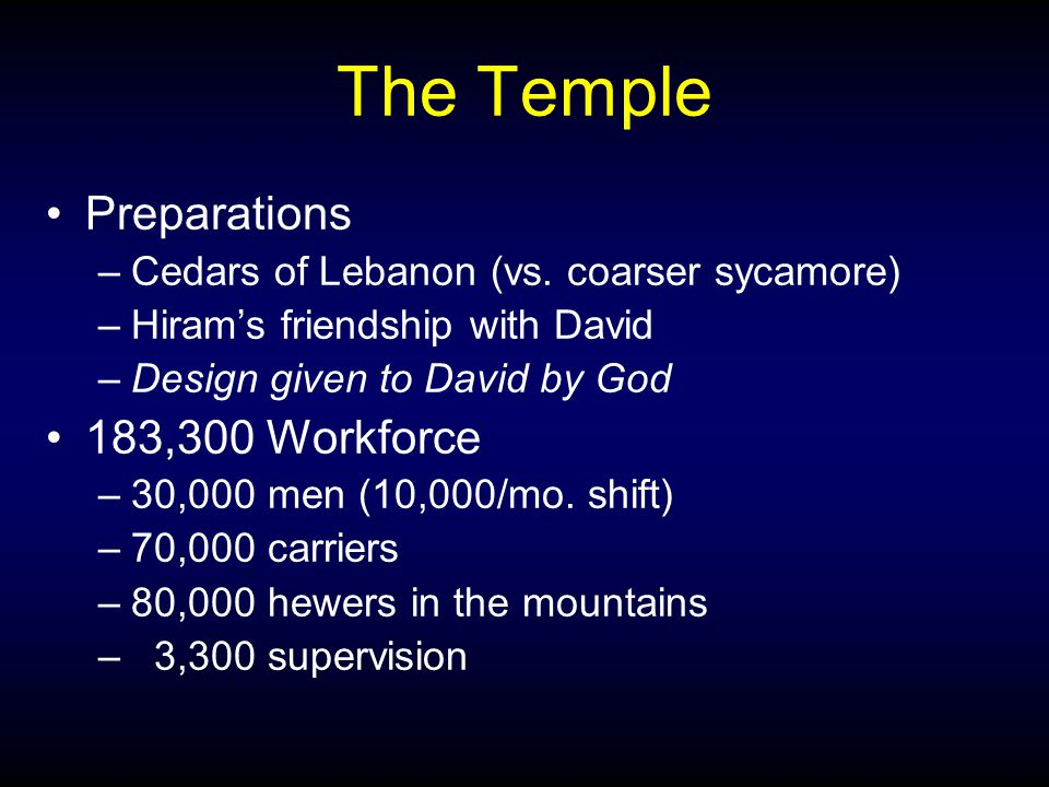 The Temple Preparations –Cedars of Lebanon (vs.