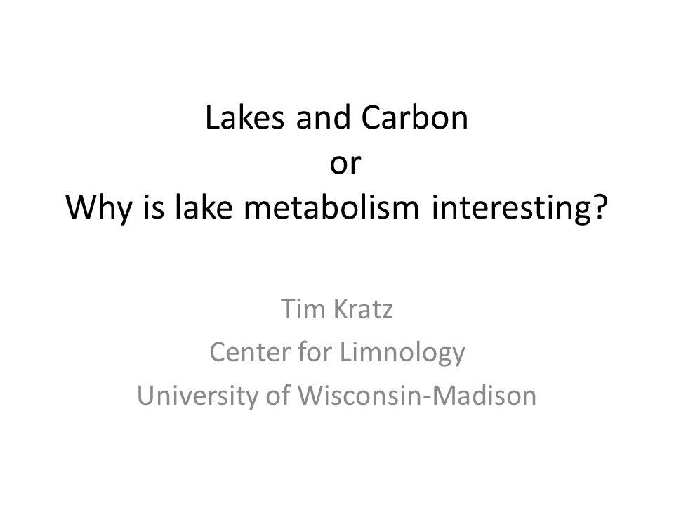 Lake Metabolism Gross Primary Production (GPP) Ecosystem Respiration (ER) Net Ecosystem Production (NEP) NEP = GPP - ER