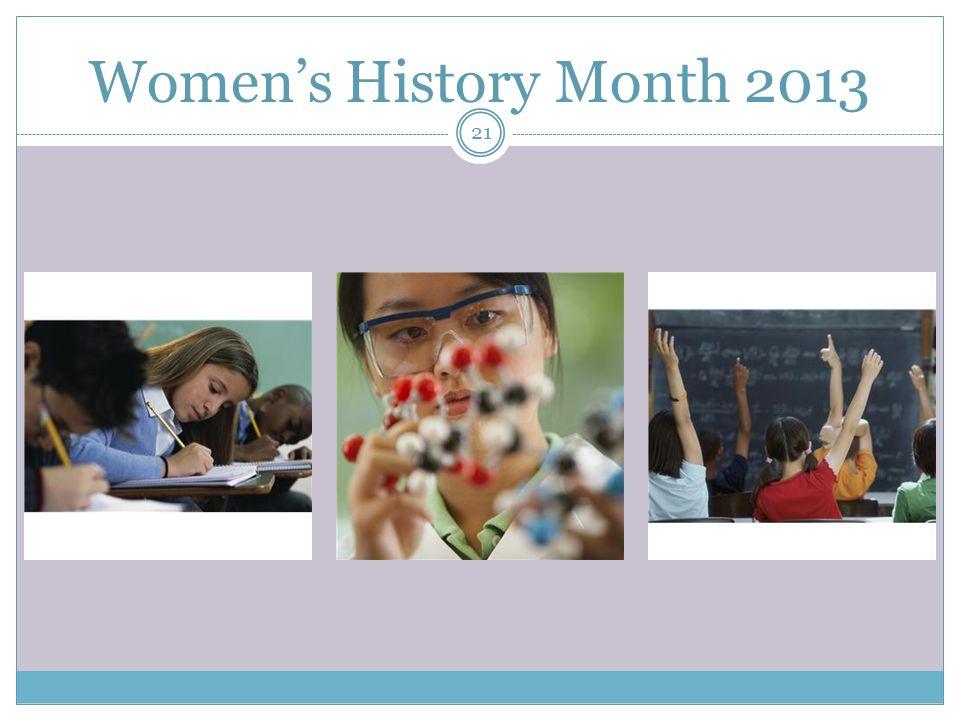 Women's History Month 2013 21