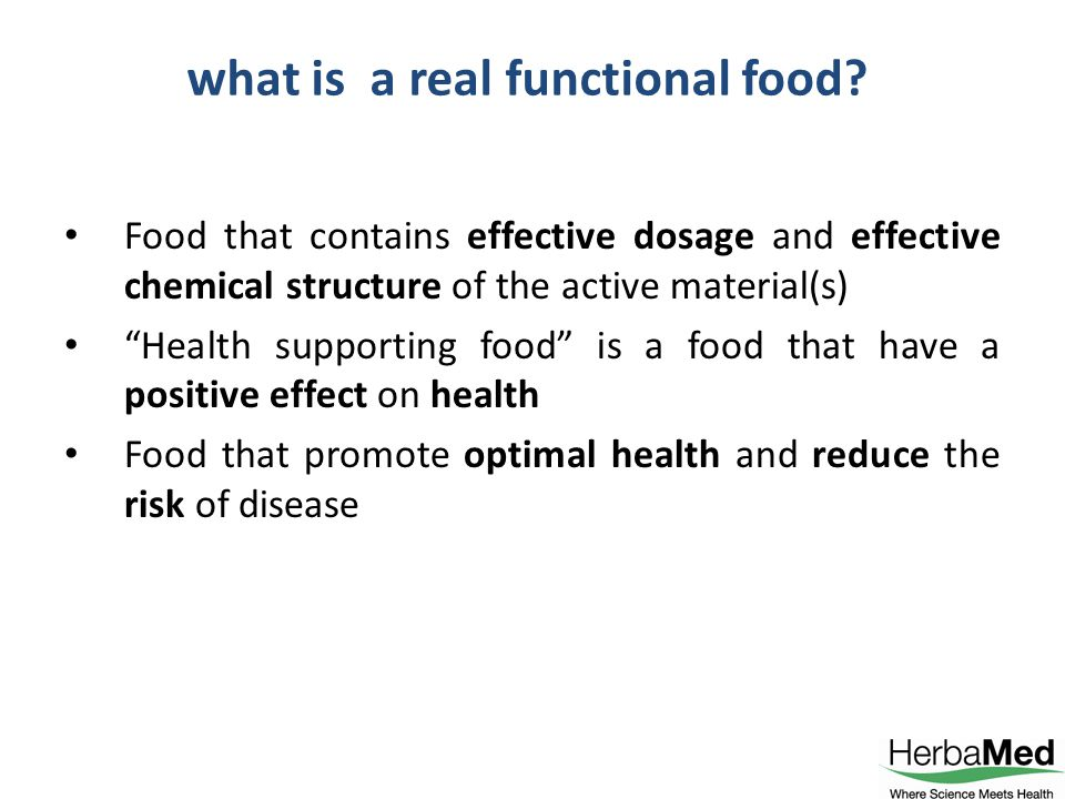 In Herbamed we call it Health supporting food