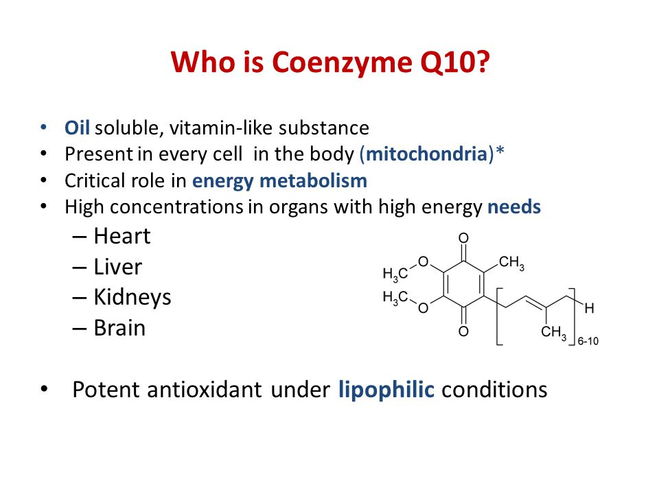 Who is Coenzyme Q10.