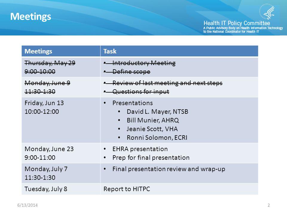 U.S. National Transportation Safety Board (NTSB) David L. Mayer Managing Director 36/13/2014