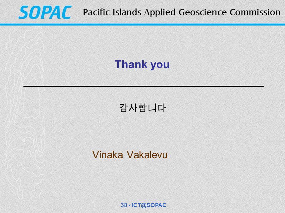 Thank you Vinaka Vakalevu 38 - ICT@SOPAC 감사합니다