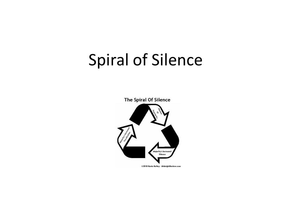 Spiral of Silence Theory Developed by German political scientist Elisabeth Noelle Neumann in late 1940s Theory aims to explain the growth and spread of public opinion