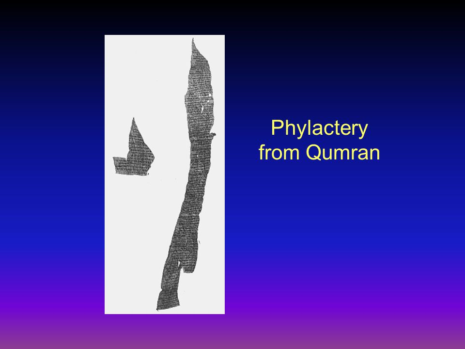 Phylactery from Qumran