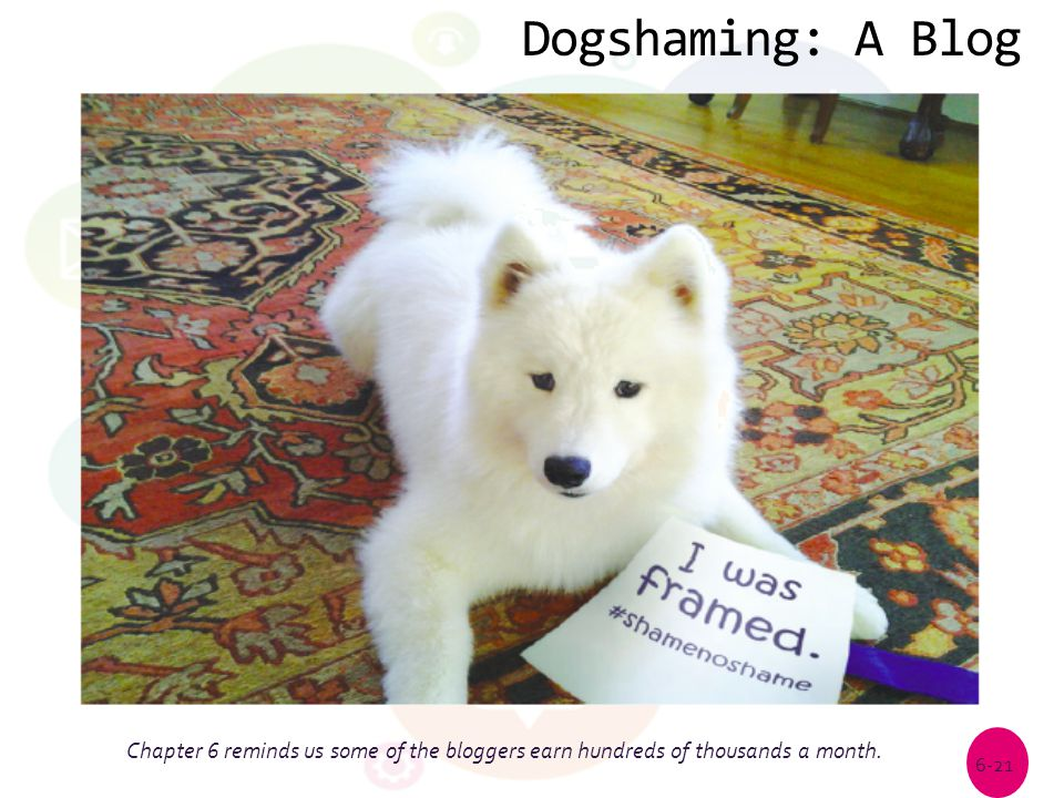 Dogshaming: A Blog Chapter 6 reminds us some of the bloggers earn hundreds of thousands a month.