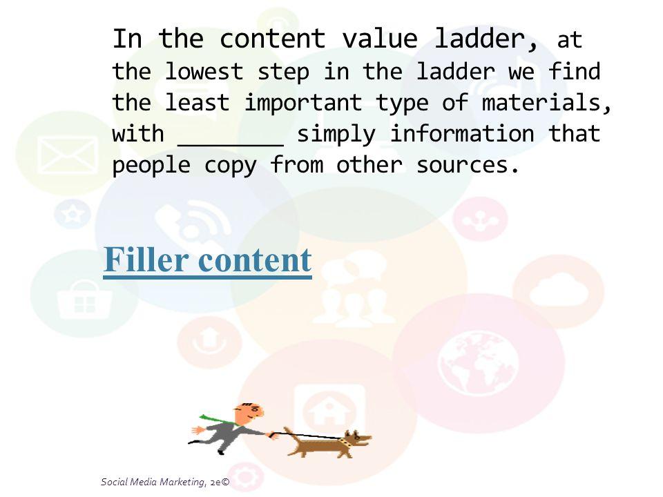 Figure 6.3 A Content Value Ladder Social Media Marketing, 2e© © Tracy L.