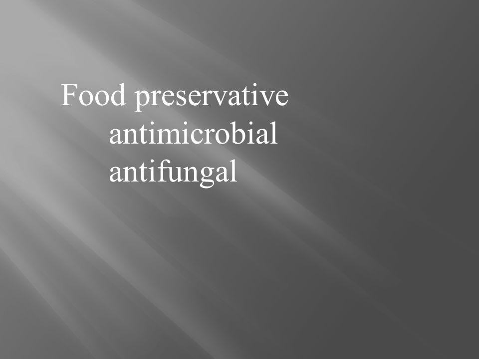 Food preservative antimicrobial antifungal