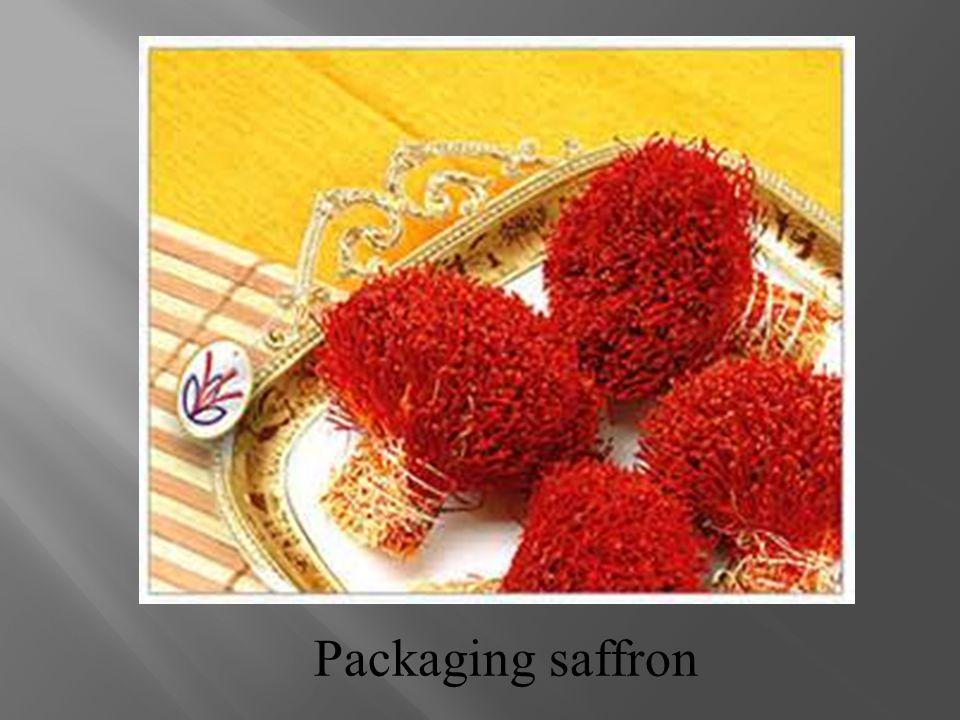 Packaging saffron