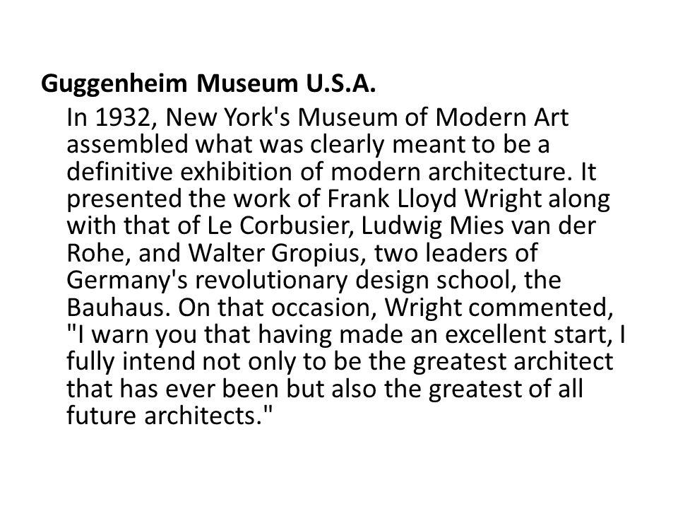 Guggenheim Museum U.S.A.