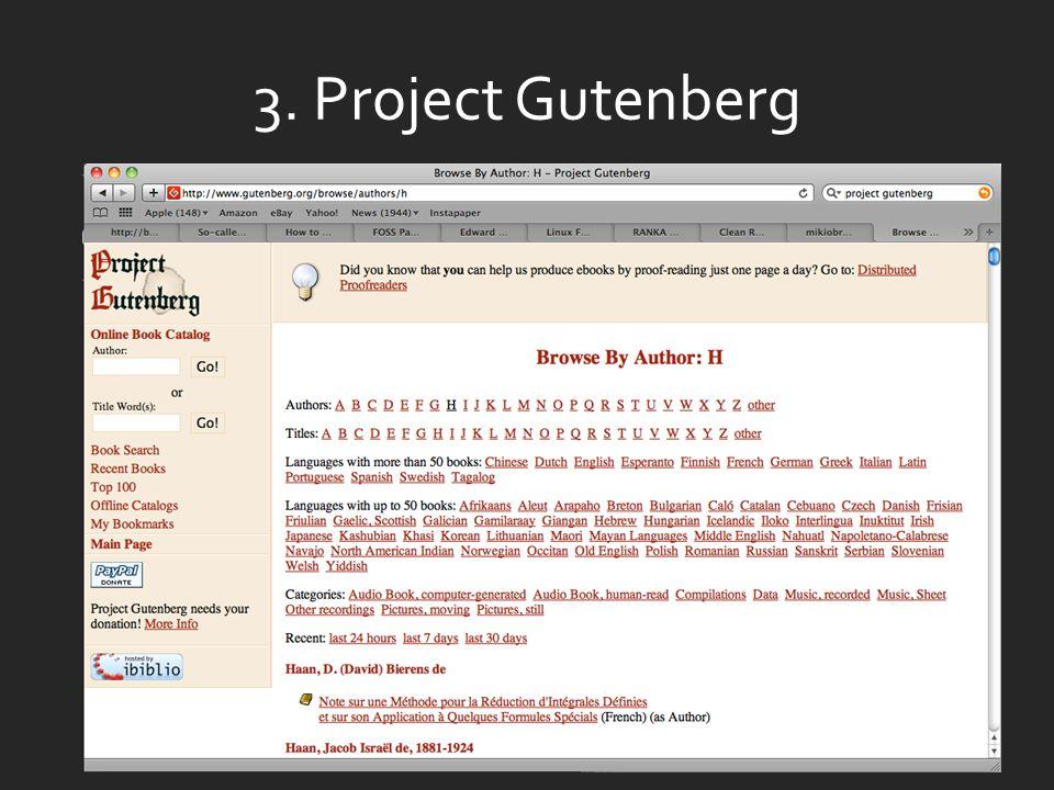 3. Project Gutenberg