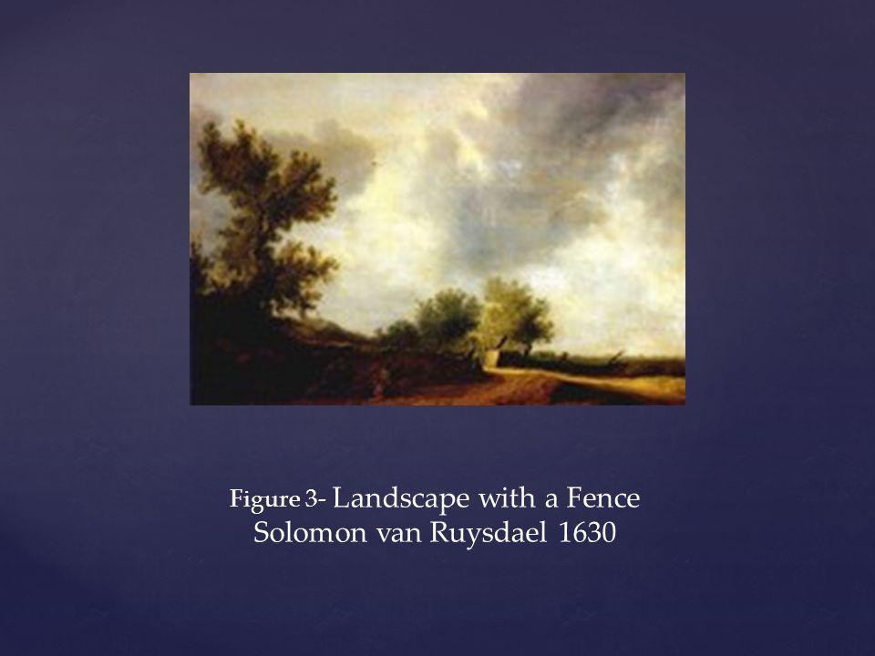 Figure 3- Landscape with a Fence Solomon van Ruysdael 1630
