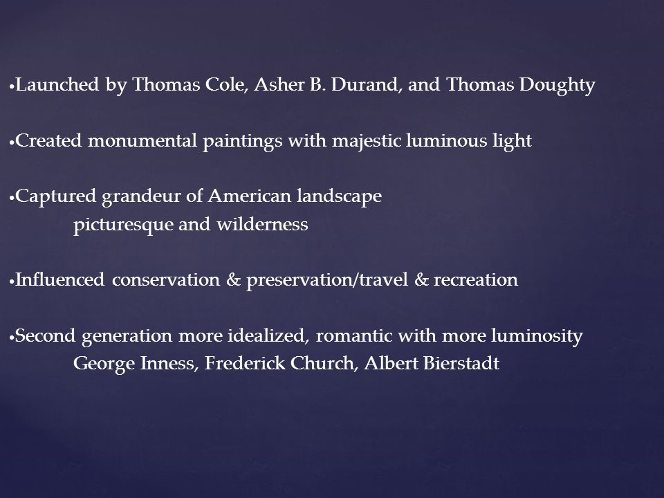 Launched by Thomas Cole, Asher B.