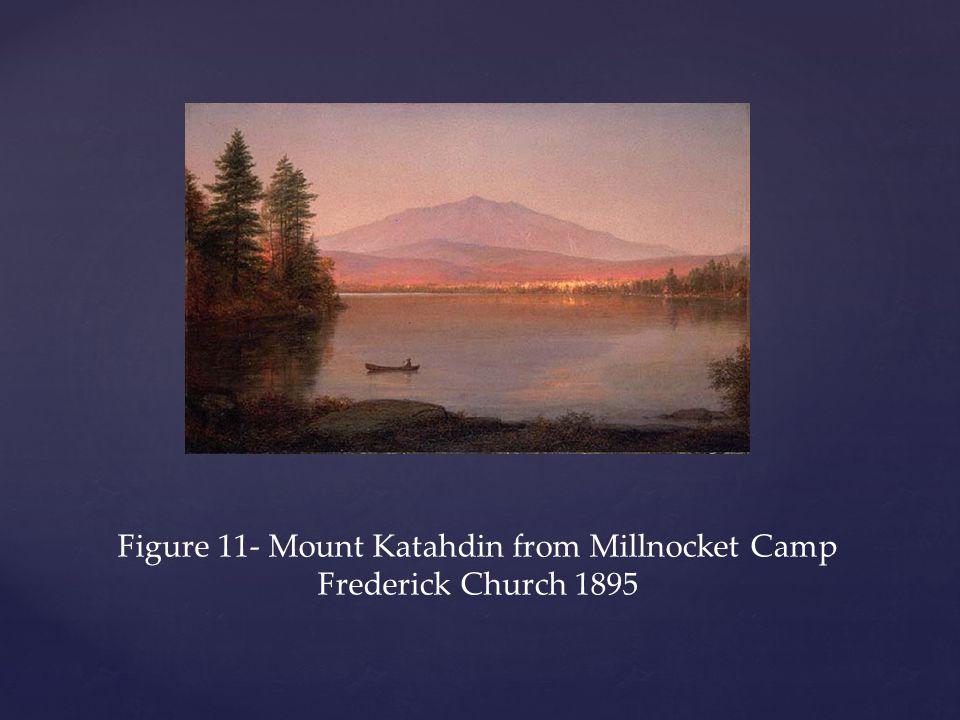 Figure 11- Mount Katahdin from Millnocket Camp Frederick Church 1895
