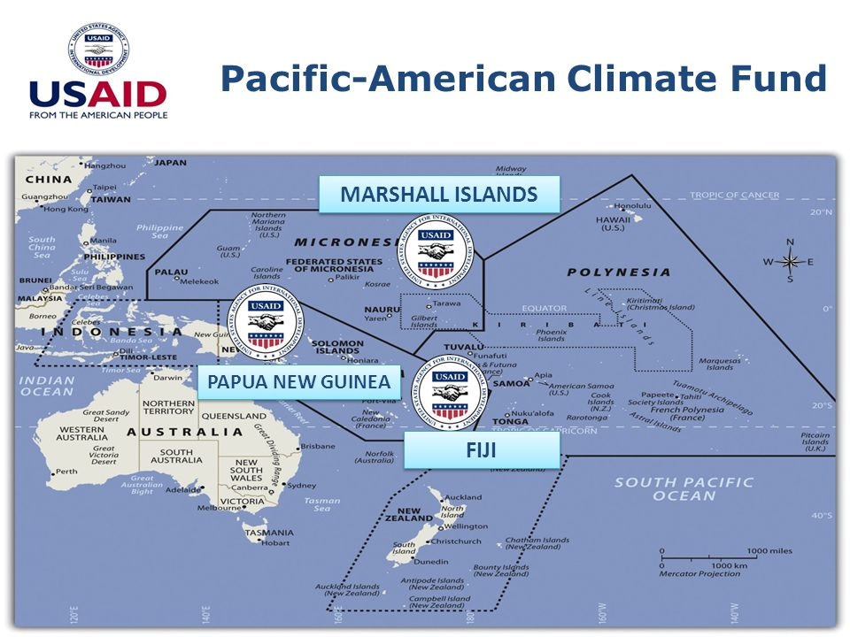 In 2013 awarded a contract to in association with To establish, on behalf of USAID, a transparent grant- making facility to provide and monitor gender- responsive climate adaptation grants to 12 Pacific Island nations.