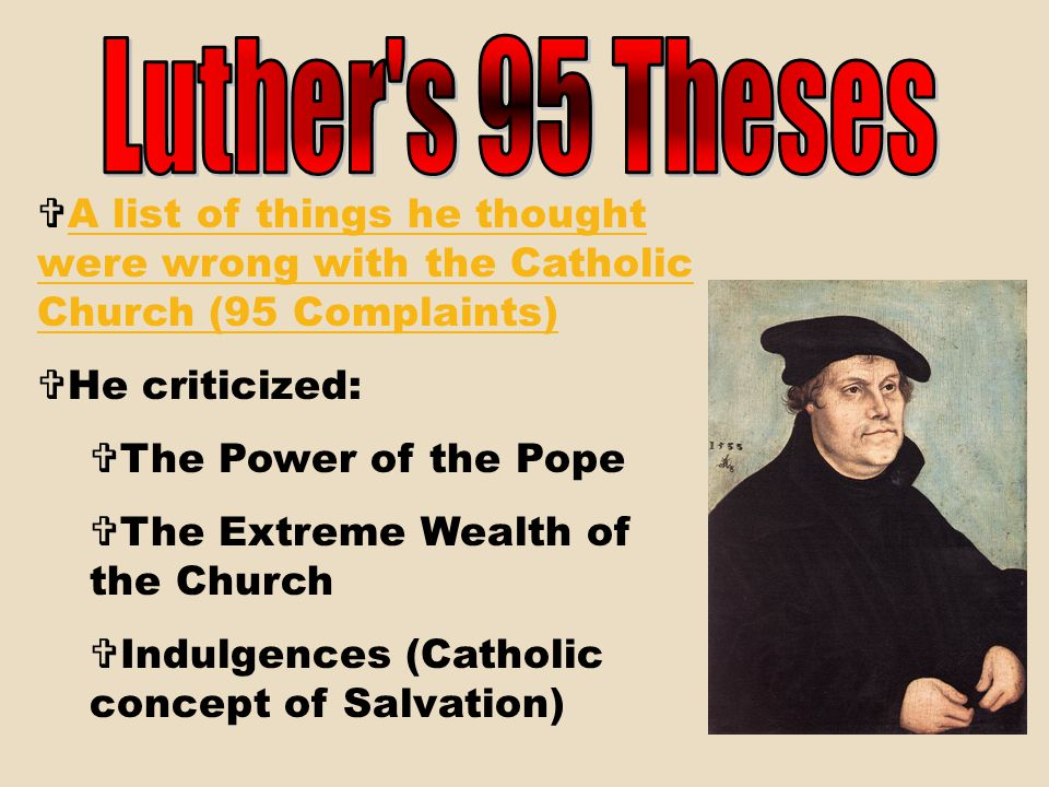 """The righteous shall live by his faith."" Luther realized that only faith (in the ultimate goodness of Jesus), not good deeds, could save a person. No"