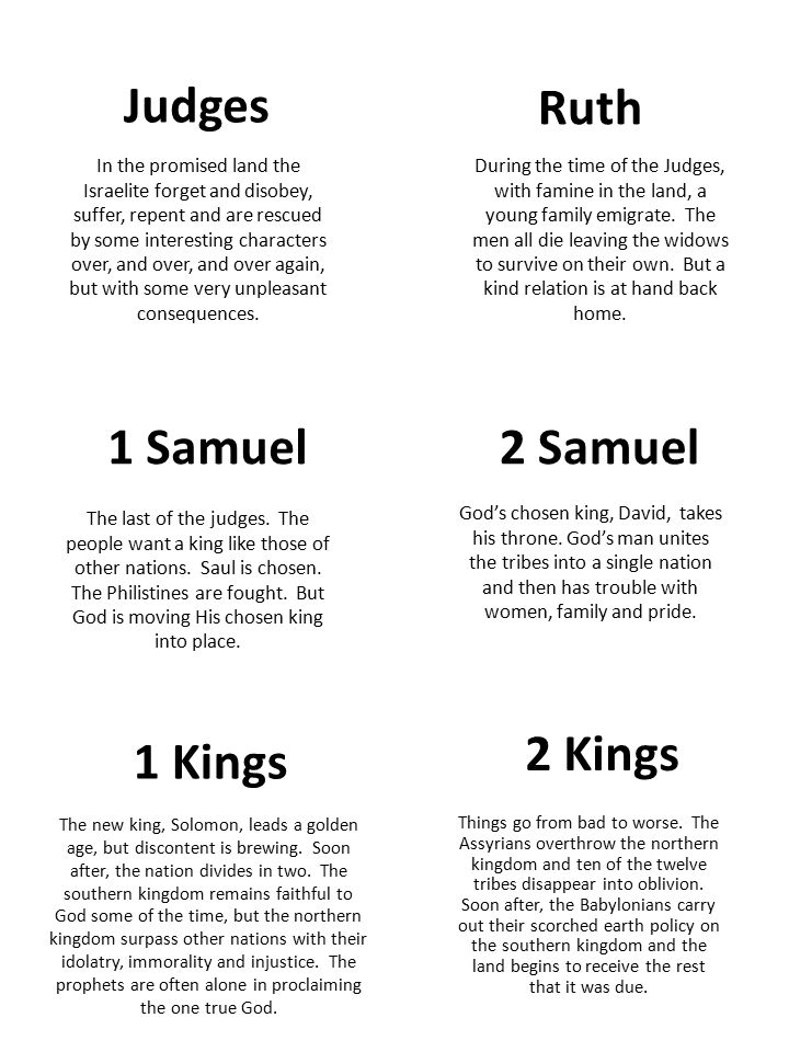 1 Chronicles A retelling of the events recorded in Samuel and Kings but from a different point of view.