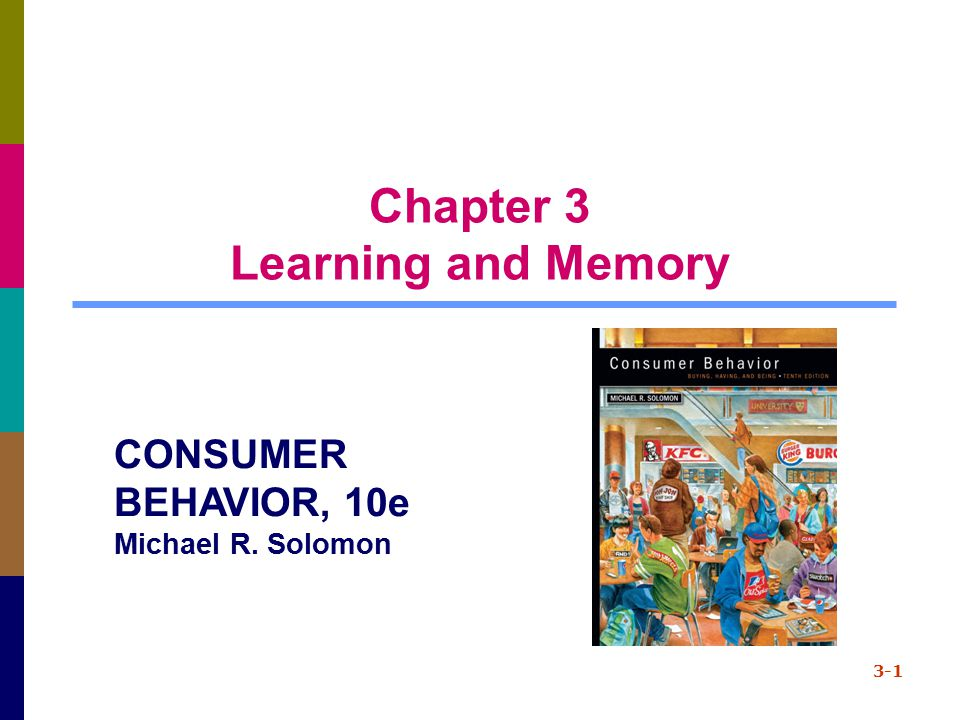 Theories of Learning Behavioral learning theories focus on stimulus-response connections Cognitive theories focus on consumers as problem solvers who learn when they observe relationships 2-2