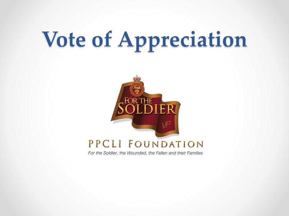 Vote of Appreciation