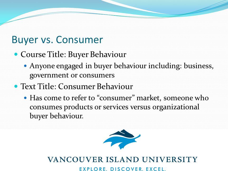 Buyer vs.