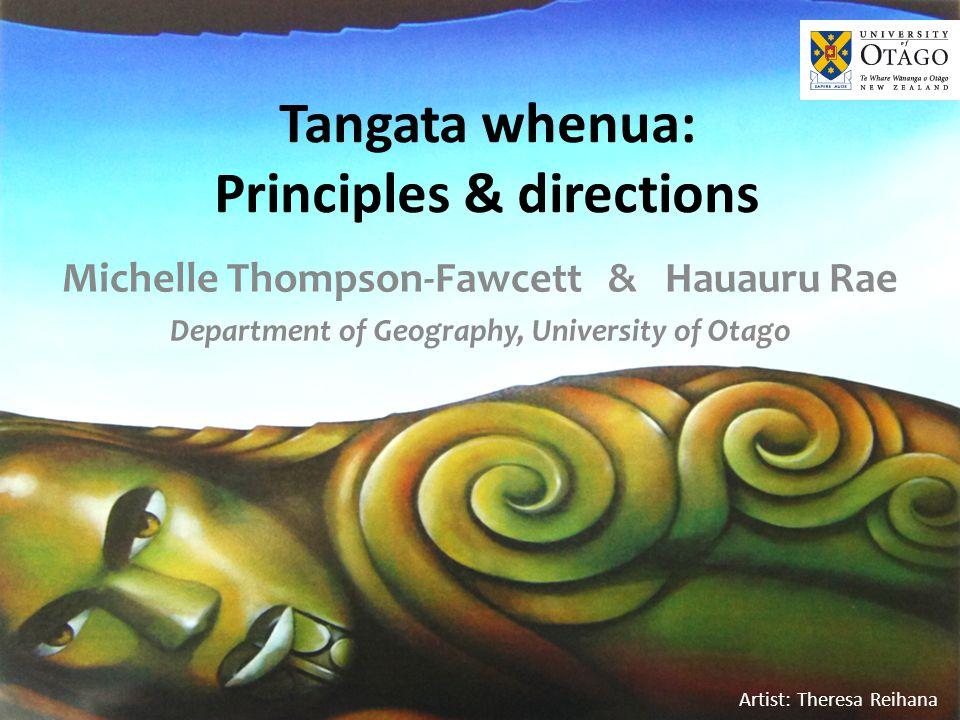 Iwi Environmental Principles WhakapapaKaitiakitangaManawhenua