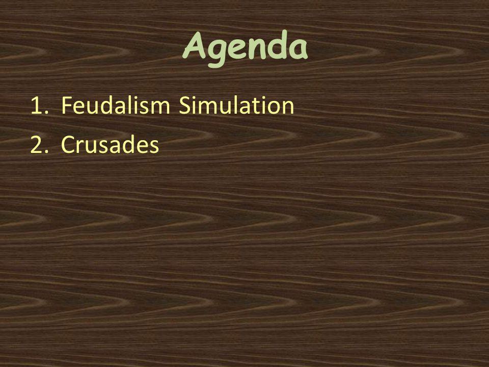 Agenda 1.Feudalism Simulation 2.Crusades