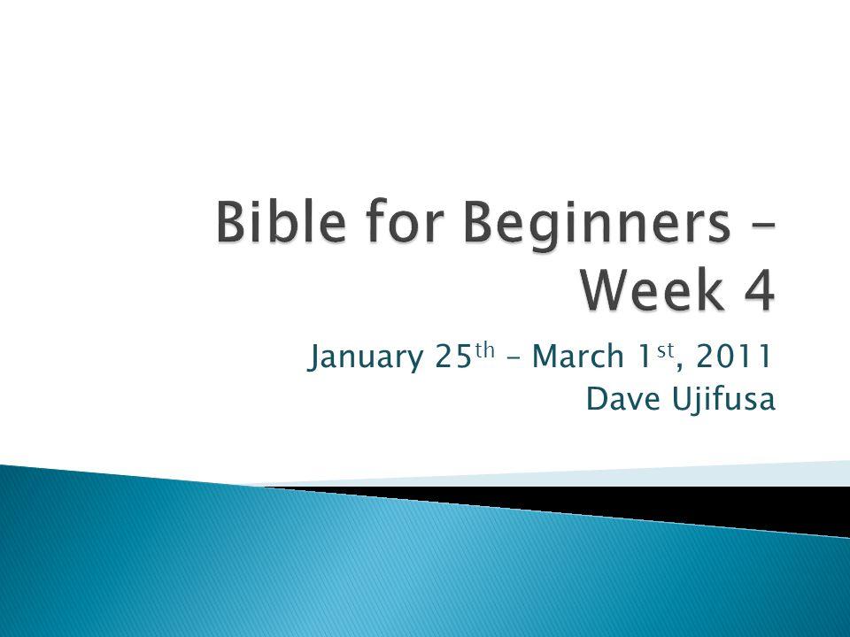 January 25 th – March 1 st, 2011 Dave Ujifusa